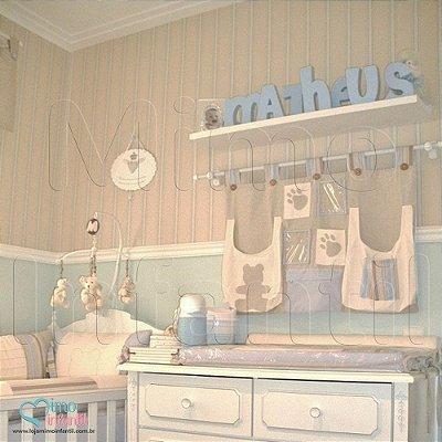 Papel de Parede Infantil e Bebê Listrado (lavável, cola grátis, indicamos instalador) - FP811020