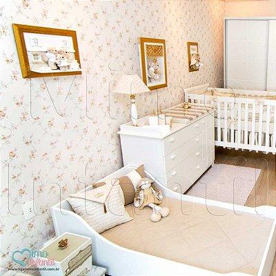 Papel de Parede Infantil e Bebê Floral (lavável, cola grátis, indicamos instalador) - FP811038