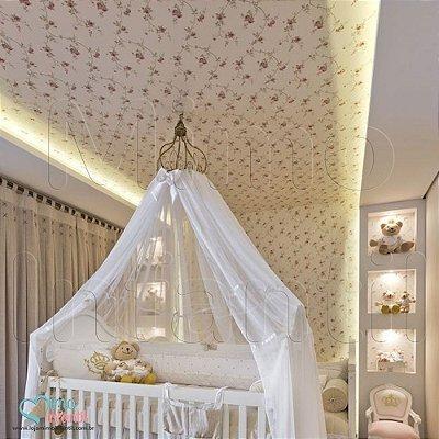 Papel de Parede Infantil e Bebê Floral  (lavável, cola grátis, indicamos instalador) - FP811074