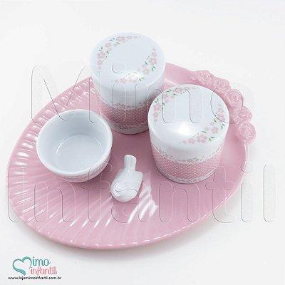 Kit Higiene para Bebê em Porcelana Floral - KH0002