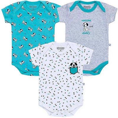 Pimpolho Kit Bodies Manga Curta Infantil para Bebê e Crianças 8438