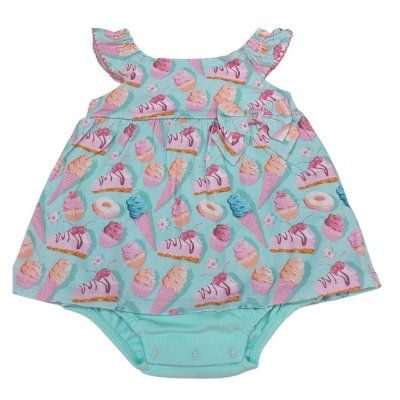 Anjos Baby Macacão para Bebê Menina Manga Curta 213063
