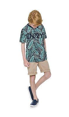 Kyly Camiseta Infantil Masculina Manga Curta 110984