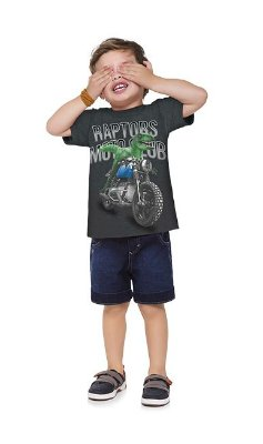 Kyly Camiseta Infantil Masculina Manga Curta 110960