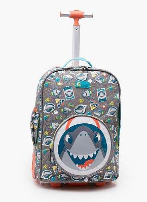 Puket Mochila Escolar com Rodinha Tubarão 050402445