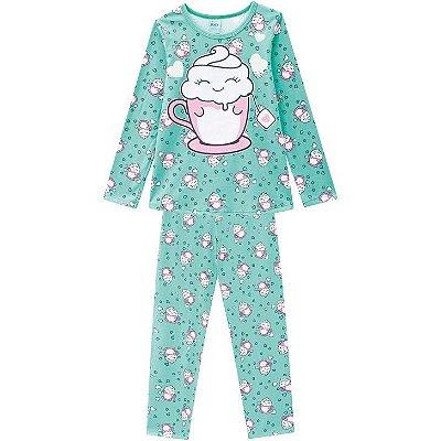 Kyly Pijama Infantil Feminino Manga Longa 207534