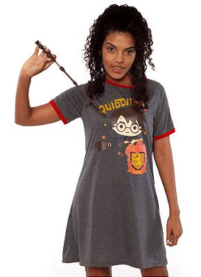 Puket Camisola Adulto Feminina Manga Curta Meia Malha Harry Potter 030602204