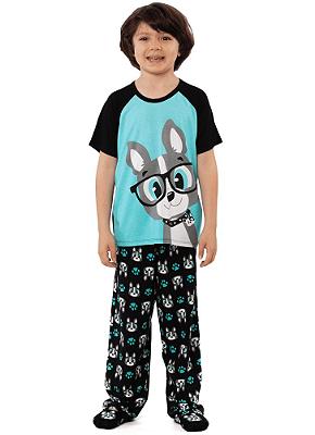 Puket Pijama Manga Curta Kids Visco Bulldog 030402040