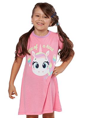 Puket Camisola Kids Manga Curta Eco Unicornio 030402031 Cor Rosa