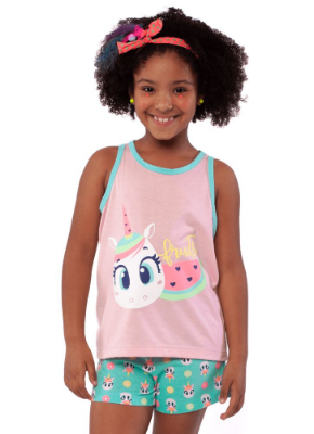 Puket Pijama Short Doll Nadador Eco Unicornio 030402070