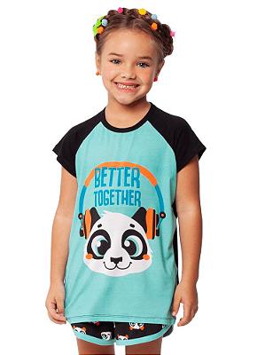 Puket Pijama Manga Curta Teen Visco Panda 030501585