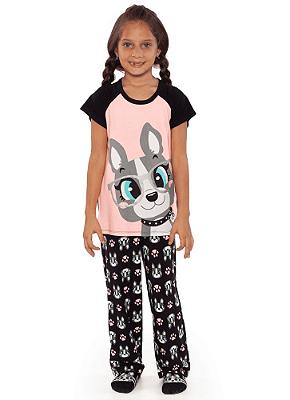 Puket Pijama Manga Curta Kids Visco Bulldog 030402039
