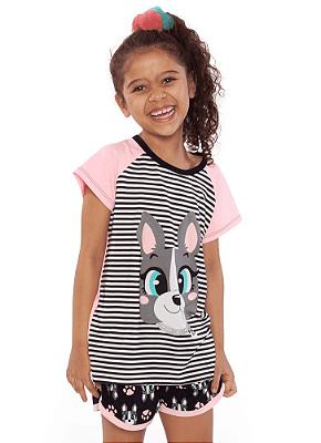 Puket Pijama Short Doll Kids Visco Bulldog 030402037