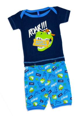 Puket Pijama Manga Curta Baby Rib Dino 030200546