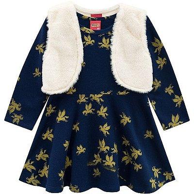 Kyly Vestido Infantil Manga Longa 207.122