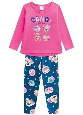 Brandili Conjunto Legging Longa Infantil Feminino 53469
