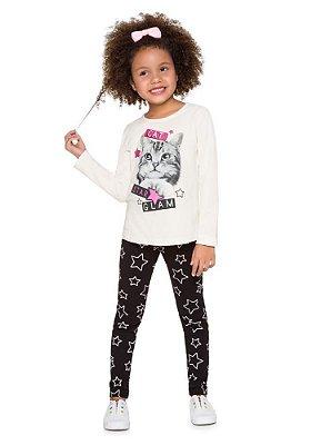 Brandili Conjunto Legging Longa Infantil Feminino 53491 Cor Cru
