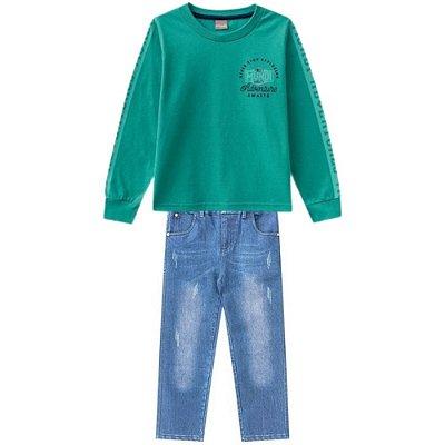 Brandili Conjunto Calca Jeans Infantil Masculino 53140