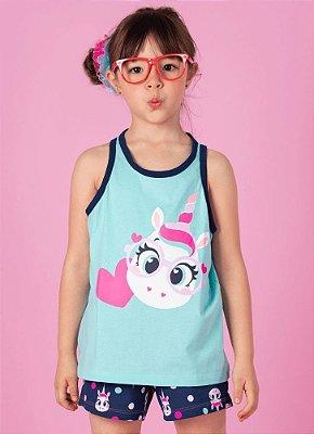 Puket Pijama Short Doll Regata Unicornio Eco 030401872