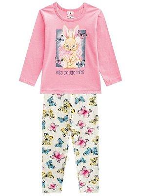 Brandili Conjunto Legging Longa Infantil Feminino 53468 Cor Rose