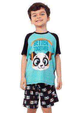 Puket Pijama Manga Curta Teen Visco Panda 030501586
