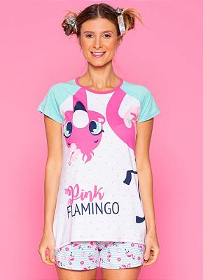 Puket Pijama Infantil Feminino 030601998 Cor Flamingo