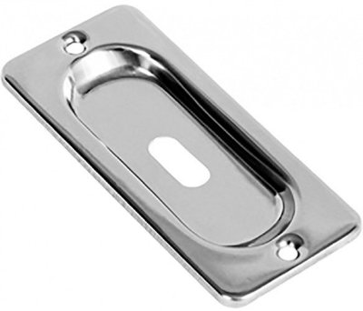 Puxador Concha c/ Furo para Chave Inox 304 Caixa c/ 2un. Synter