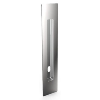 Puxador Concha Embutir c/ furo 220mm em Aço Inox 304 Polido - Synter, Linha New Jaspe Slim