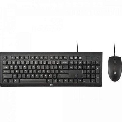 Kit Teclado + Mouse com Fio C2500 Preto HP