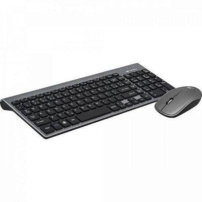 Kit Teclado + Mouse sem Fio K-W510SBK Preto/Cinza C3TECH