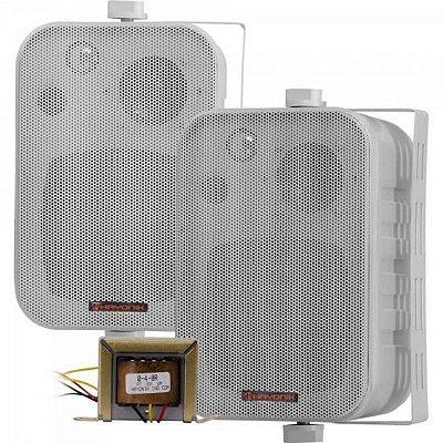 Caixa Acústica com Trafo Embutido de 70V(25W) Ambience Line MSB406 Branca HAYONIK - PAR / 2