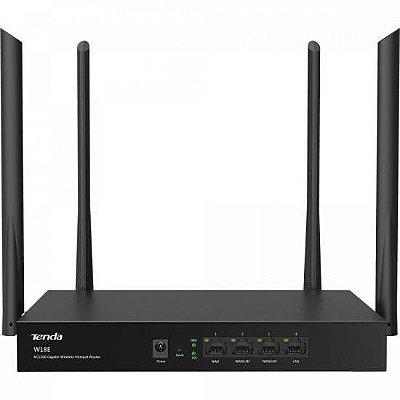 Roteador sem Fio para Hotspot Gigabit 1200Mbps Dual Band W18E Preto TENDA