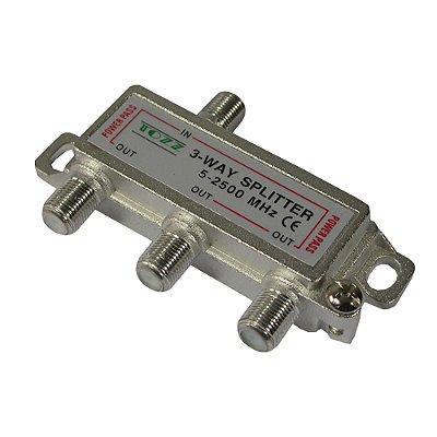 Divisor Satélite 1/3 5-2400 MHz GENÉRICO - PCT / 10