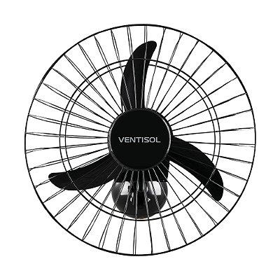 Ventilador de Parede Oscilante 50cm Bivolt AÇO Preto VENTISOL