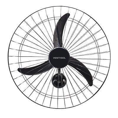 Ventilador de Parede 60cm 220V NEW PREMIUM Preto VENTISOL