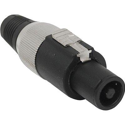 Conector Speakon de Linha Macho 4 Pólos PGSP0004 Preto/Cinza STORM - PCT / 10