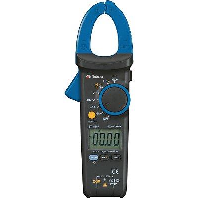 Alicate Amperímetro Digital ET-3166A Azul/Preto MINIPA