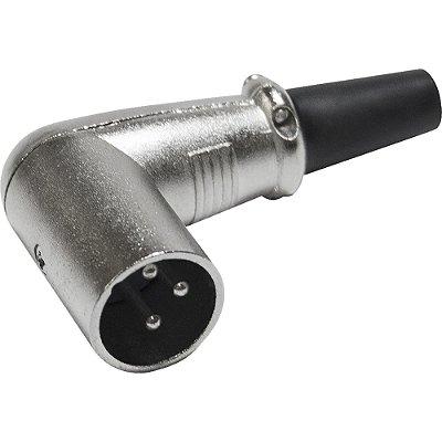 Conector Cannon Macho Metálico de 90° PGCN0012 Níquel STORM - PCT / 10