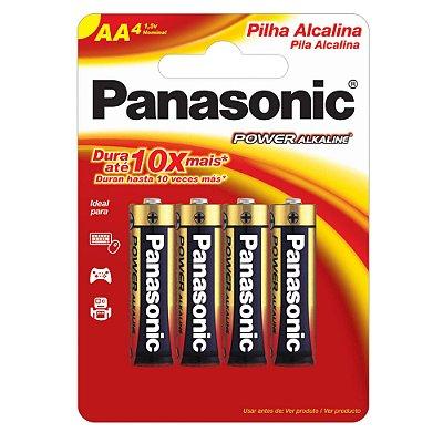 Pilha Alcalina AA 1,5V LR6XAB/4B192 PANASONIC (Cartela com 4 Unid.) - CAR / 4