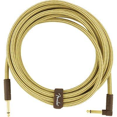 Cabo para Instrumentos P10 x P10 (90°) 4,5m DELUXE SERIES Amarelo Tweed FENDER