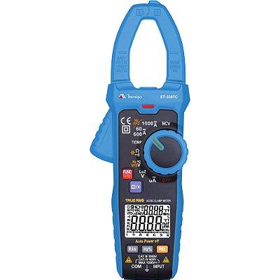 Alicate Amperimetro Digital ET3367C Azul MINIPA