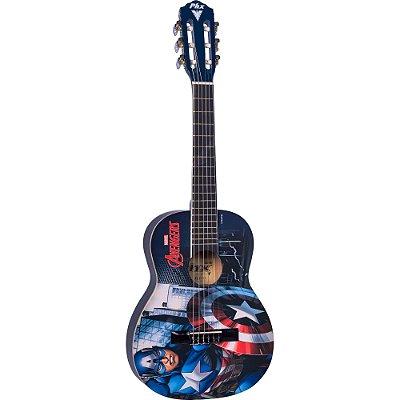 """Violão Acústico Infantil Nylon 30"""" (1/4) Marvel Capitão América VIM-C1 PHX"""