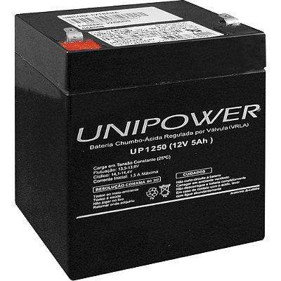 Bateria Estacionária Selada 12V/5AH VRLA UP1250 UNIPOWER