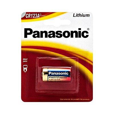 Bateria Lithium 3V Photo CR123A PANASONIC (Cartela com 1 Unid.)