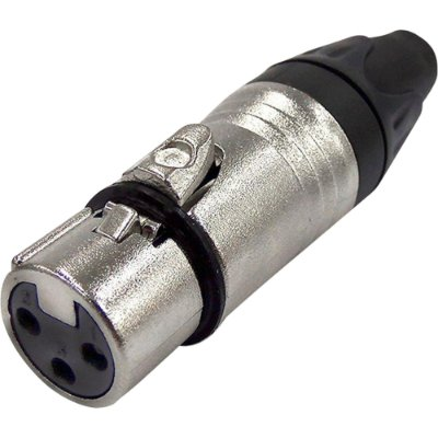 Conector Cannon Fêmea 3 Polos Metal JCCN0017 STORM - PCT / 10
