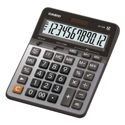 Calculadora de Mesa 12 Dígitos GX-120B Prata CASIO