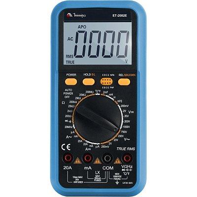Multímetro Digital ET2082E Azul MINIPA