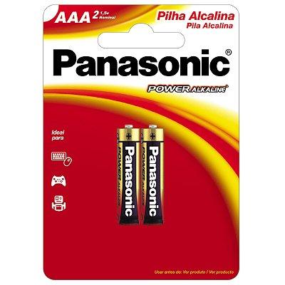 Pilha Alcalina AAA 1,5V LR03XAB/2B1 PANASONIC (Cartela com 2 Unid.) - CAR / 2