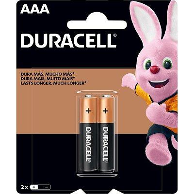 Pilha Alcalina AAA MN2400 (Caixa c/24 pilhas)(Cartela c/2 pilhas) DURACELL - CXF / 24