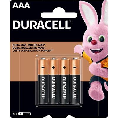 Pilha AAA Palito MN2400 (Caixa c/ 48 pilhas)(Cartela c/ 4 pilhas) DURACELL - CXF / 48